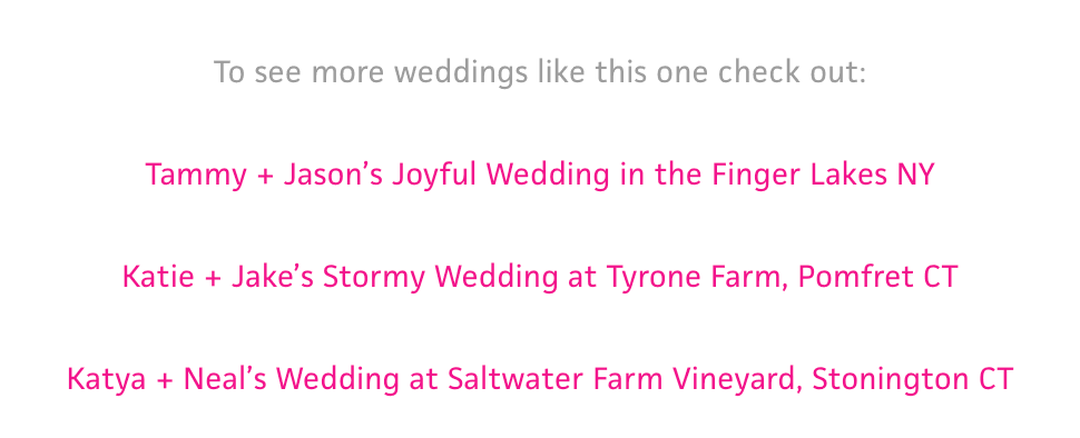 Example of internal links at the bottom of a wedding photographer blog post