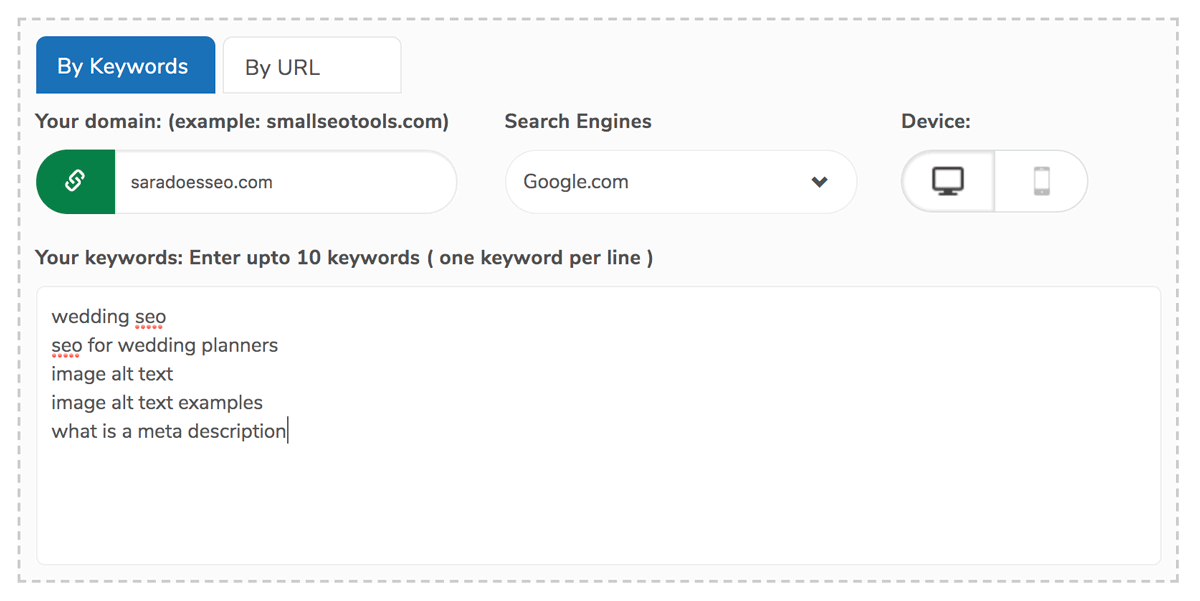 Use Keyword Rank Checker to check ranking on Google