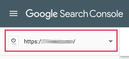 Google Search Console select correct website