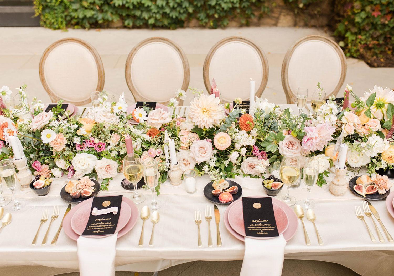 wedding planner table