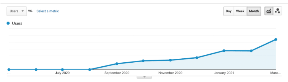 SEO results - increased traffic